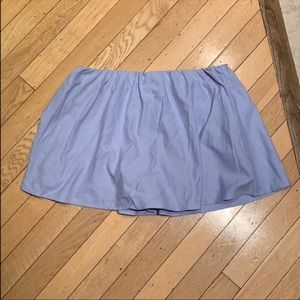 Blue Oxford skort